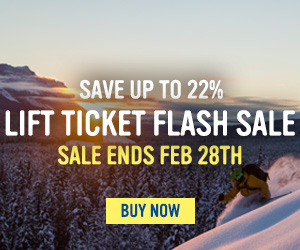 Lift Ticket Flash Sale!