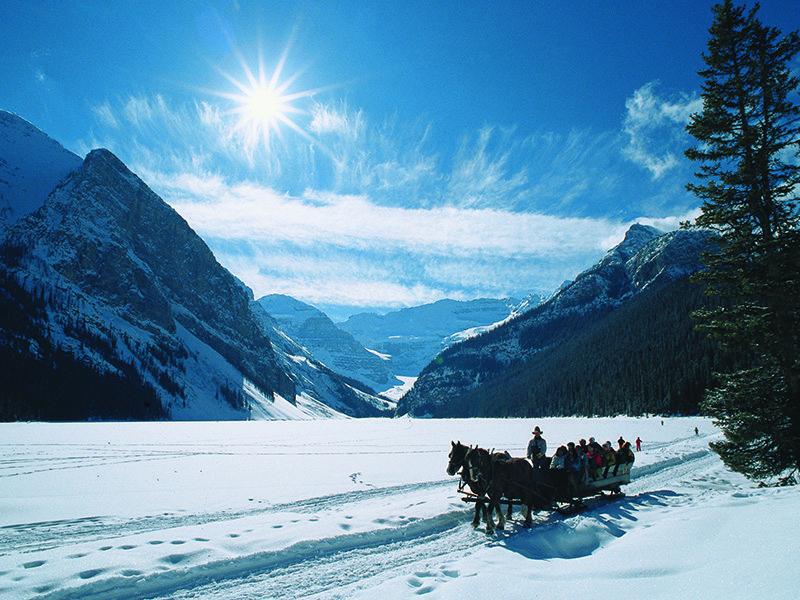 Lake Louise sleigh ride