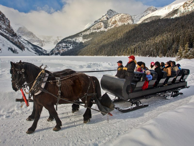 SleighRide in Lake Louise