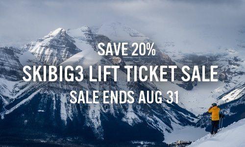 Lift Ticket Sale - Save 20%