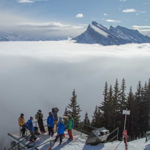Inversion over Banff from the top of Mt. Norquay