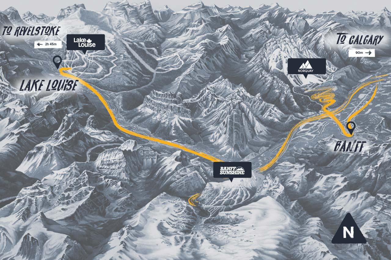 SkiBig3 Map