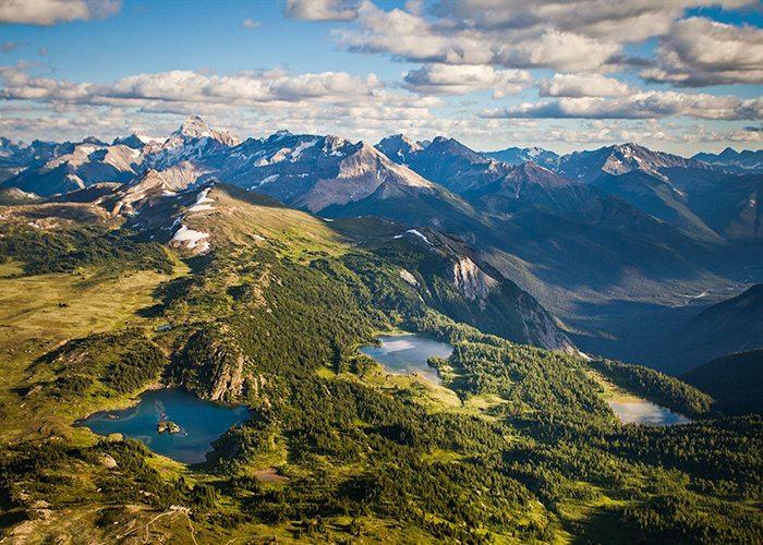 Wide shot of Sunshine Meadows, Banff National Park.