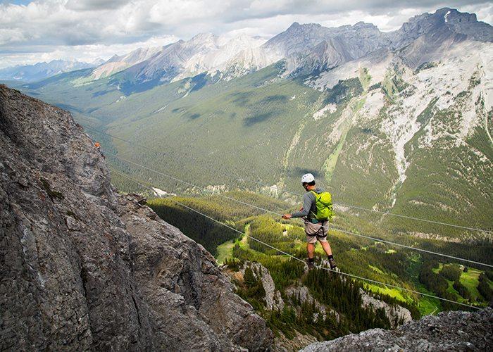 Via Ferrata at Mt Norquay, Banff National Park.