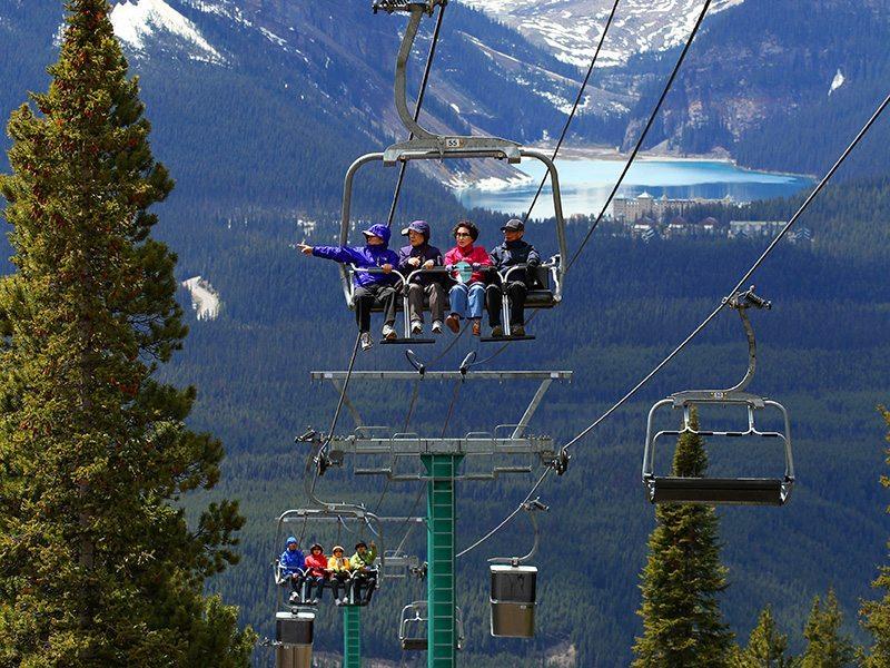 Summer at the Lake Louise Ski Resort