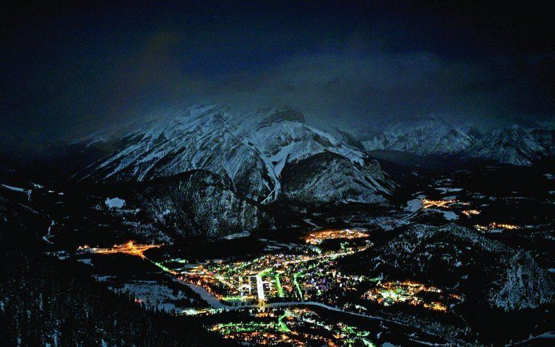 Mt Norquay Banff Night Skiing
