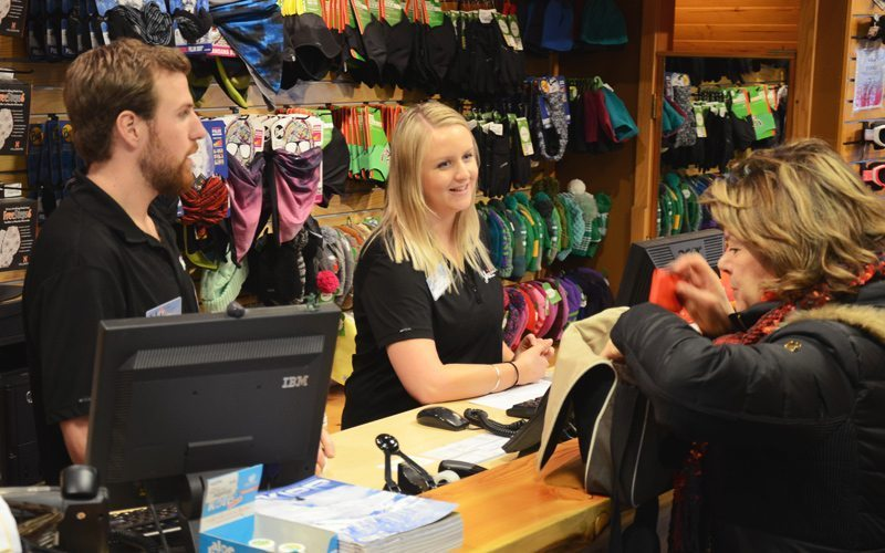 Visit the Banff Ski Hub at 119 Banff Ave, downtown Banff, for a variety of quality rental gear.
