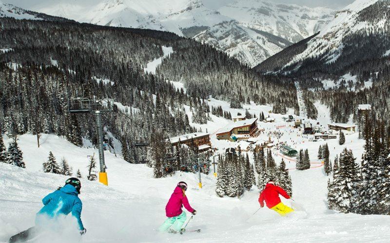 Sunshine Village is home to the longest non-glacial ski season in Canada. Photo: Paul Zizka.