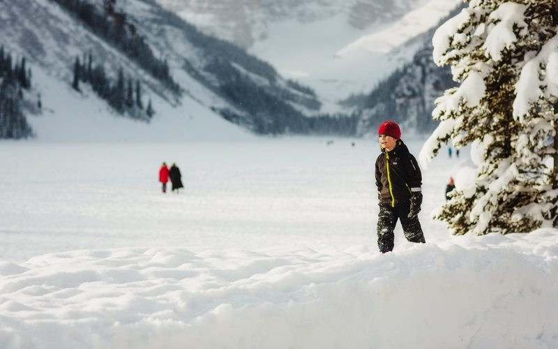 Ice skating at beautiful Lake Louise will take your breath away. Photo by Kelly MacDonald.