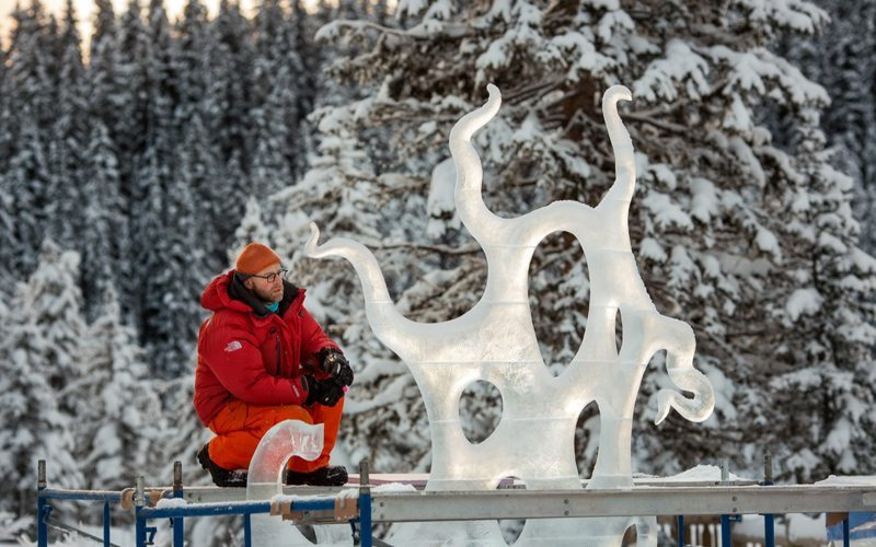 The Ice Magic Festival is an unmissable highlight of the Banff & Lake Louise social calendar. Photo: Kelly MacDonald