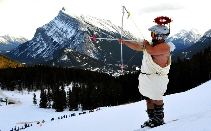 Meet your snow-loving match at Mt Norquay's Lifts of Love. Photo: Mt Norquay.