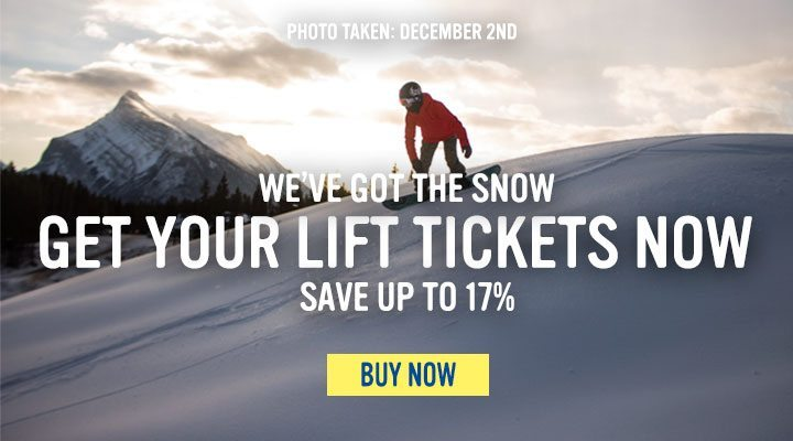Snow messaging and lift tickets