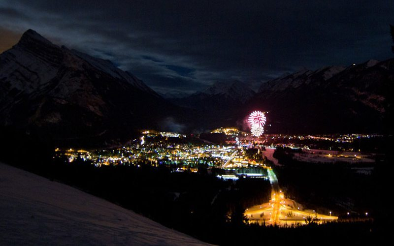 For a New Year's Eve to remember, you can't go past Banff & Lake Louise. Photo: outdoorescapades.com