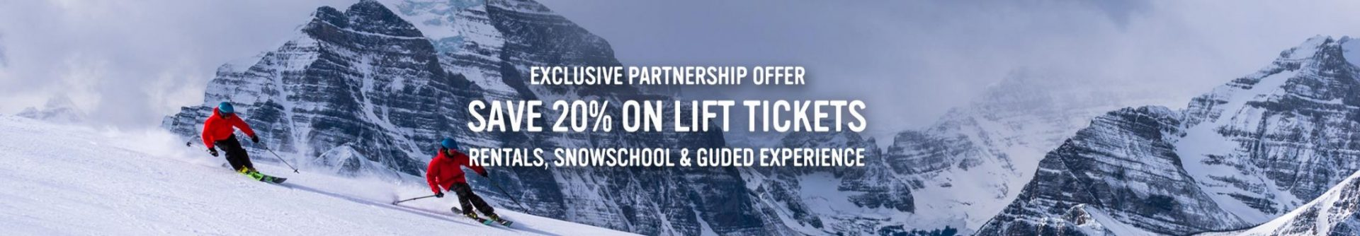 Save 20% on lift tickets, rentals, snowschool & guided experiences