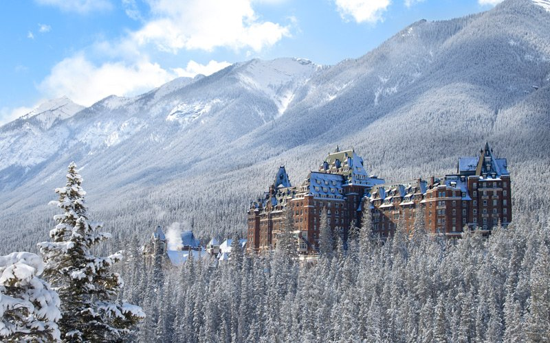 """Canada's famous """"Castle in the Rockies"""" Fairmont Banff Springs is a stunning place to stay in Banff National Park. Photo: Banff & Lake Louise Tourism/Fairmont Hotels."""