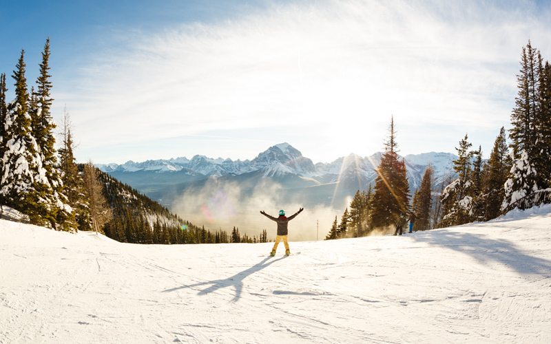 Lake Louise Ski Resort is a great place for an adventure, whether you're solo or with a group. Photo: Mitchell Henderson.