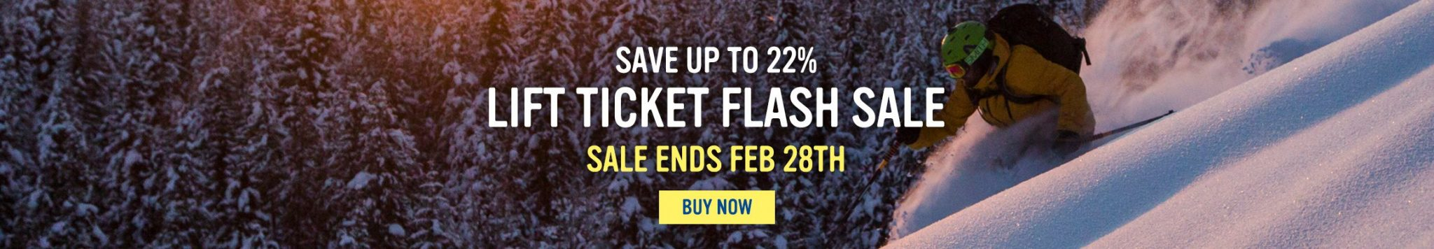 Lift Ticket Flash Sale