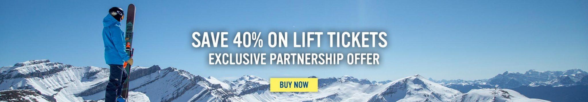 Lift Tickets - Save 40 percent