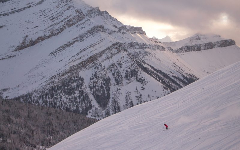 The Lake Louise Ski Resort is an unmissable part of a Mountain Collective road trip. Photo: Luke Sudermann.