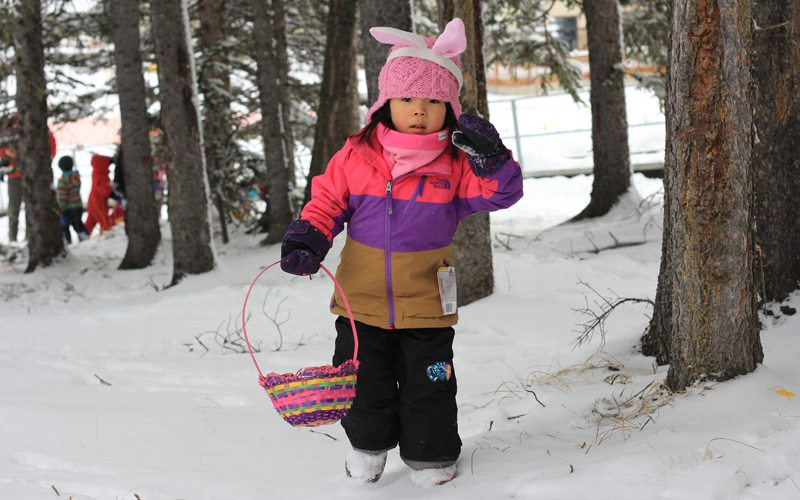 Head to Mt Norquay on Easter Sunday for the popular annual egg hunt. Photo by Mt Norquay.