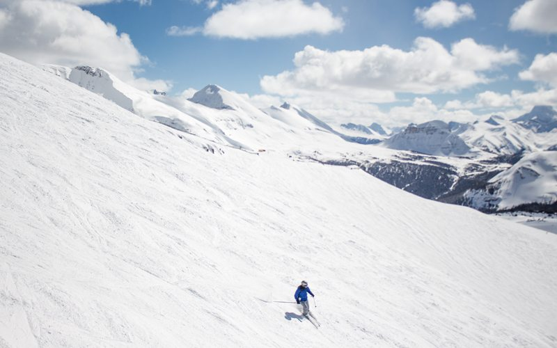 April 3, 2017: There's plenty of snow to be found at Banff Sunshine Village, open all the way until late May. Photo: Ski Big 3/Luke Sudermann.