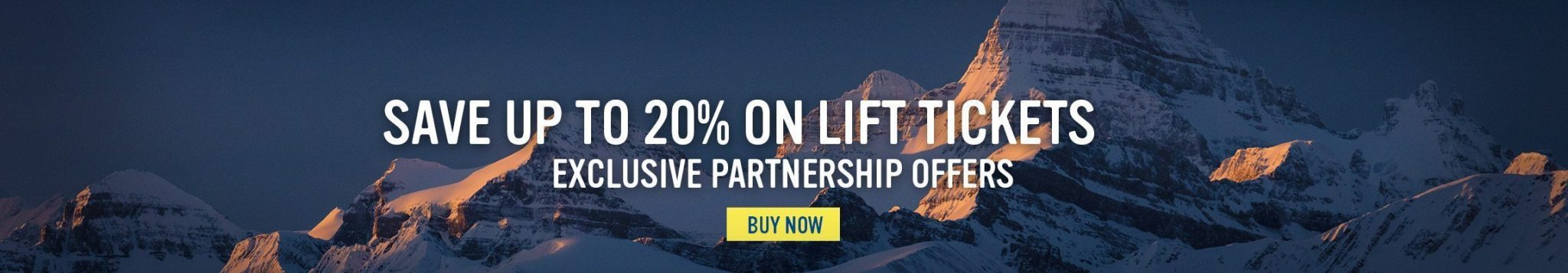 Save 20% on Lift Tickets