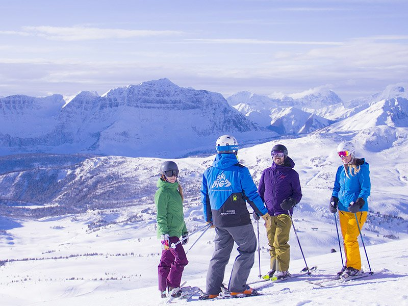 A day at Banff Sunshine Village with the Guided Adventures program. Photo by Jillian Tester