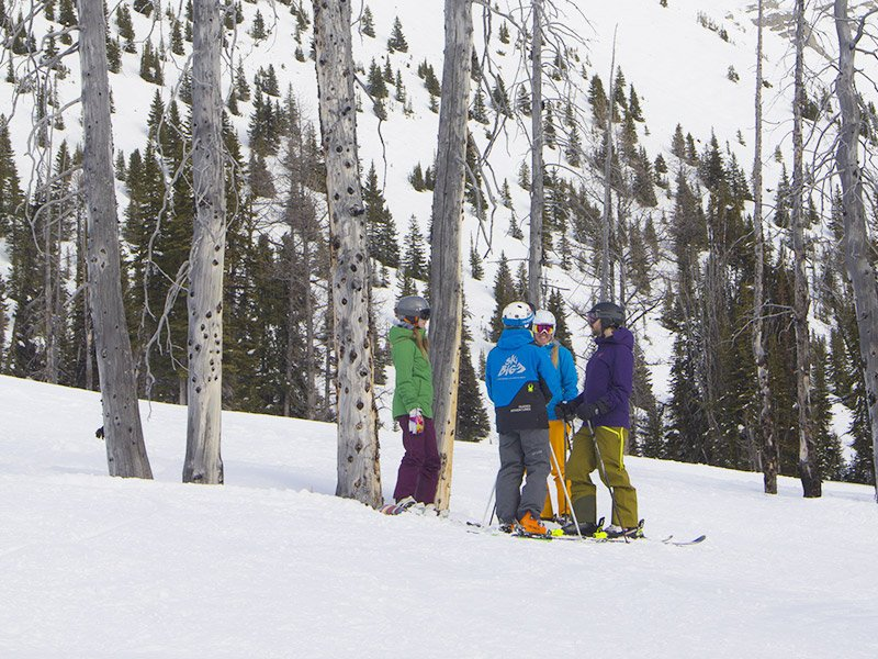 SkiBig3 Guided Adventures on Wild Fire at Goat's Eye.