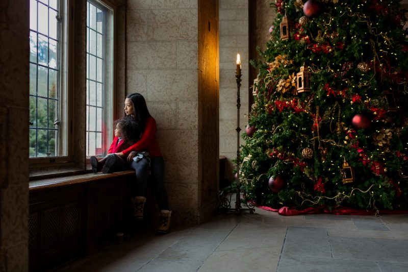 Christmas in a castle at the Fairmont Banff Springs hotel.