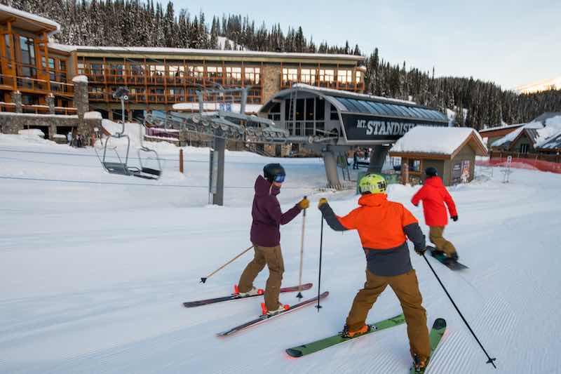 Skiers at Sunshine Village, Banff National Park.
