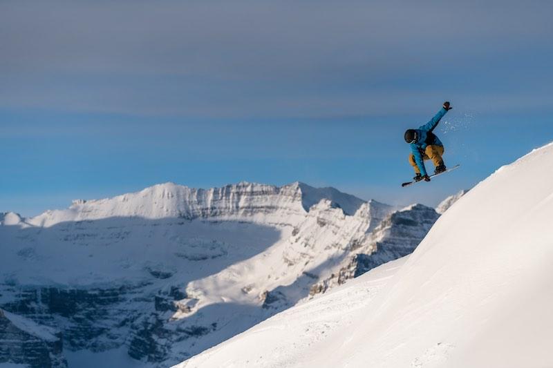 Snowboarder at Sunshine Village