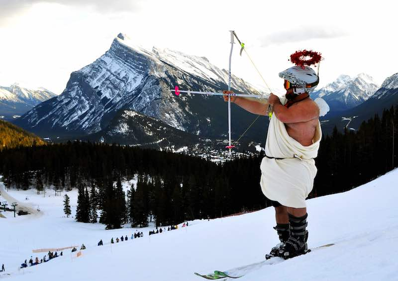 Cupid at Mt Norquay, Lifts of Love, Banff National Park.