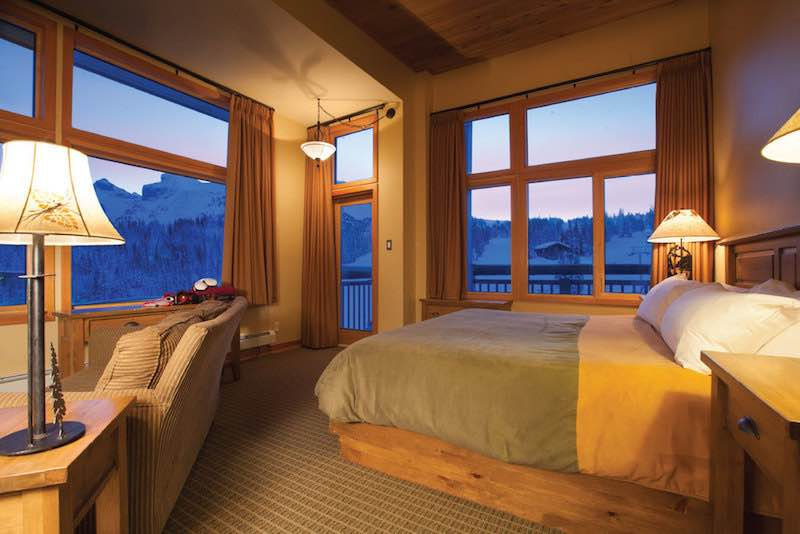Goat's Eye Suite at Sunshine Mountain Lodge, Banff Sunshine Village, Banff National Park.