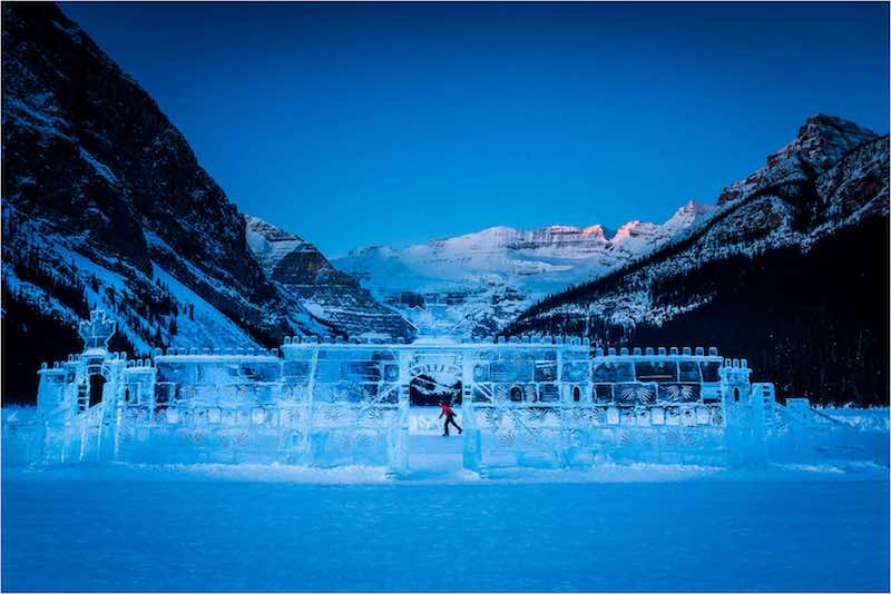 Ice castle sculpture at Lake Louise, Banff National Park. Photo by Christopher Martin.