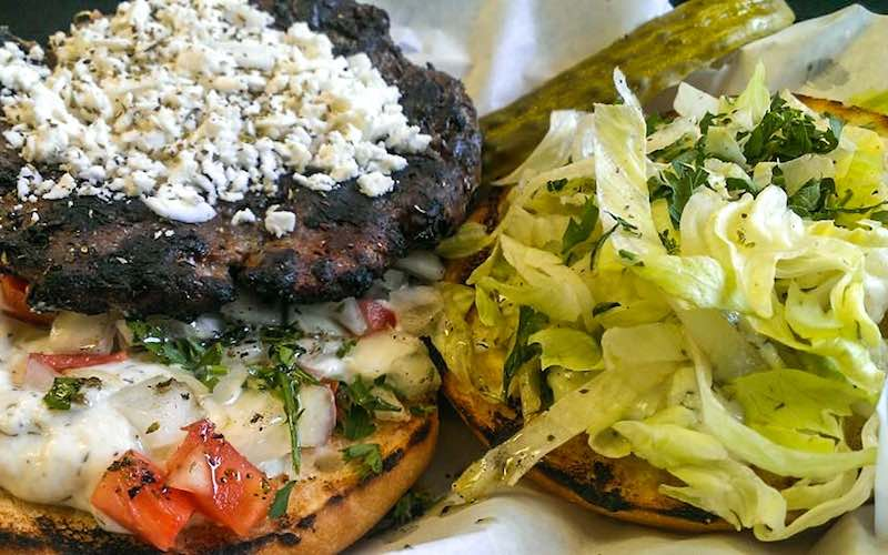 Barpa Burger at Barpa Bill's in Banff, Alberta.