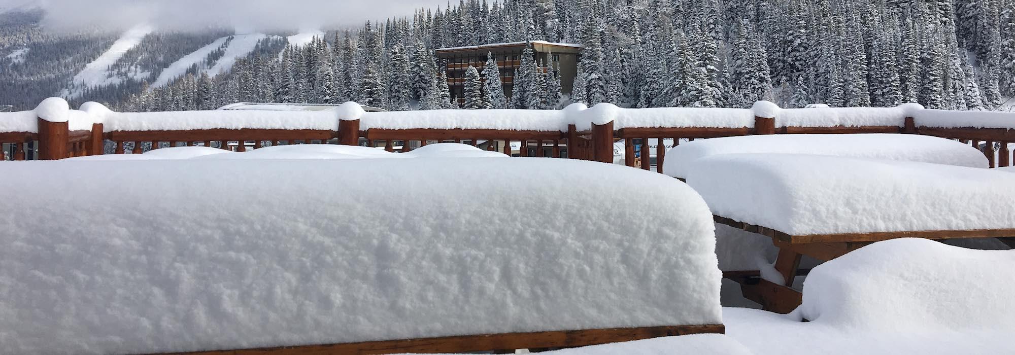Snow conditions at Banff Sunshine Village on November 16, 2018.