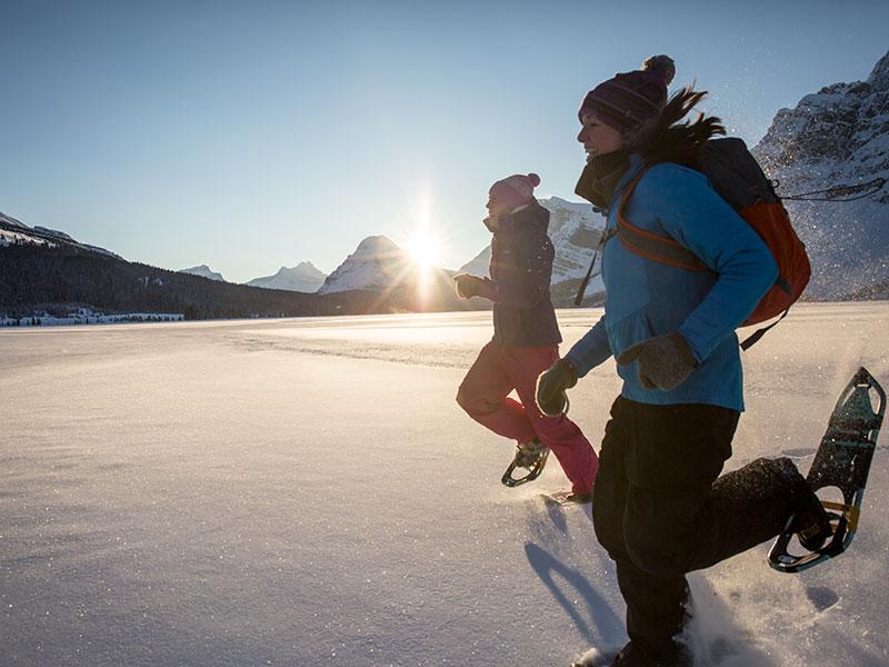 Snowshoeing at Bow Lake, Banff National Park Photo courtesy of Banff & Lake Louise Tourism / Noel Hendrickson