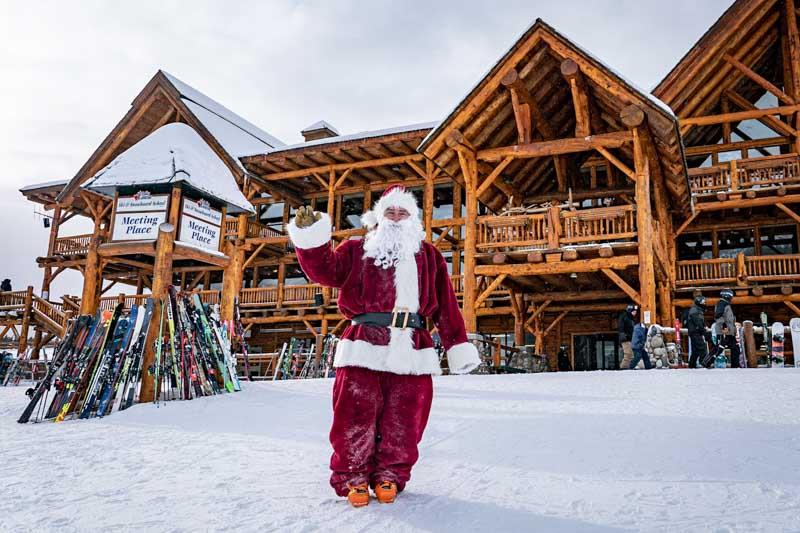 Santa at Lake Louise Ski Resort. Photo by Travis Rousseau.