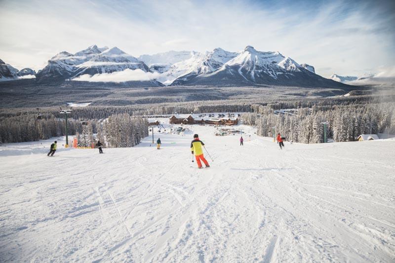Skiing at Lake Louise Ski Resort, Banff National Park.