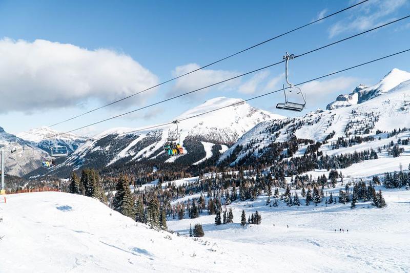Skiing at Banff Sunshine, Banff National Park.
