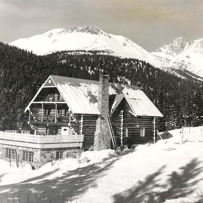 The original Temple Lodge. Photo courtesy of Lake Louise Ski Resort.