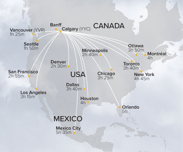 SkiBig3 US Flight Map