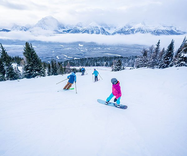 SkiBig3 Guided Adventures at Lake Louise Ski Resort, Banff National Park.