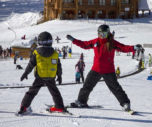 Kids Ski School at Lake Louise Ski Resort,Banff National Park.