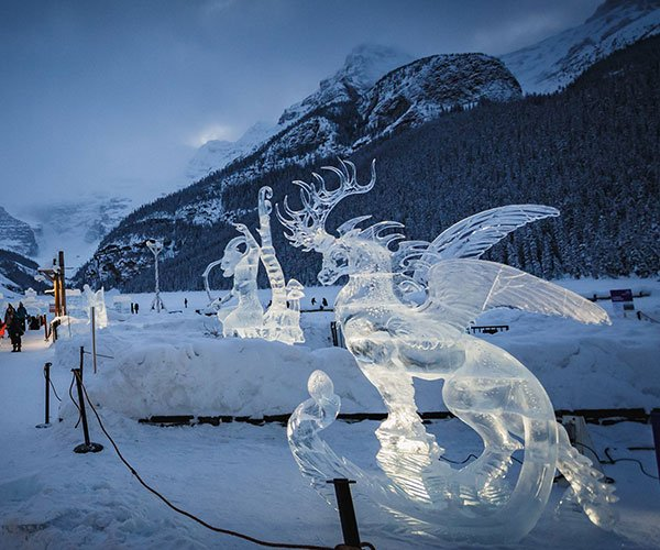 Ice Magic during SnowDays in Lake Louise, Banff National Park.