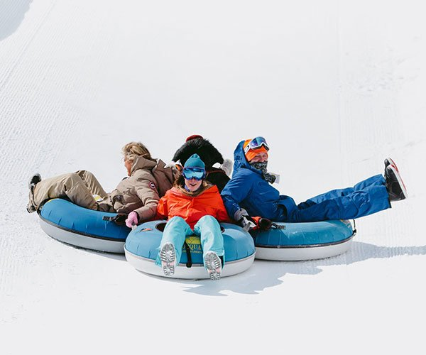 Tubing at Mount Norquay, Banff National Park.
