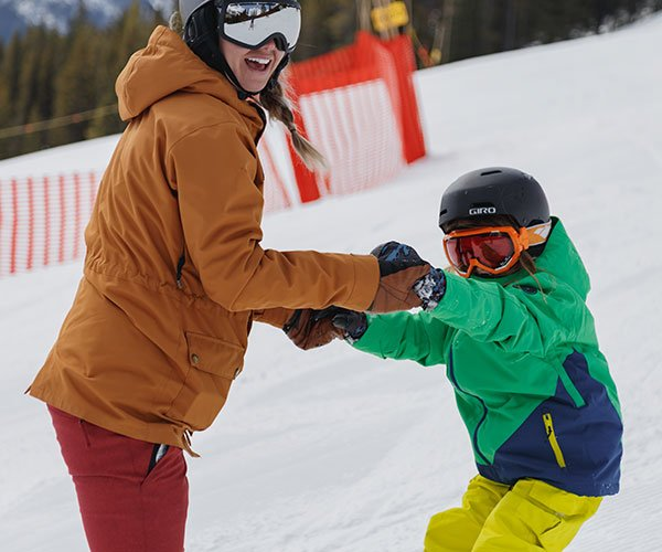 Kids Ski School Programs at Mt. Norquay, Banff National Park.