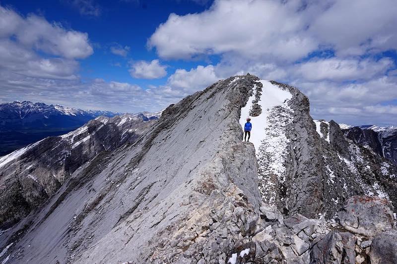 Summit of Mount Lady MacDonald near Canmore, Alberta, Canada.