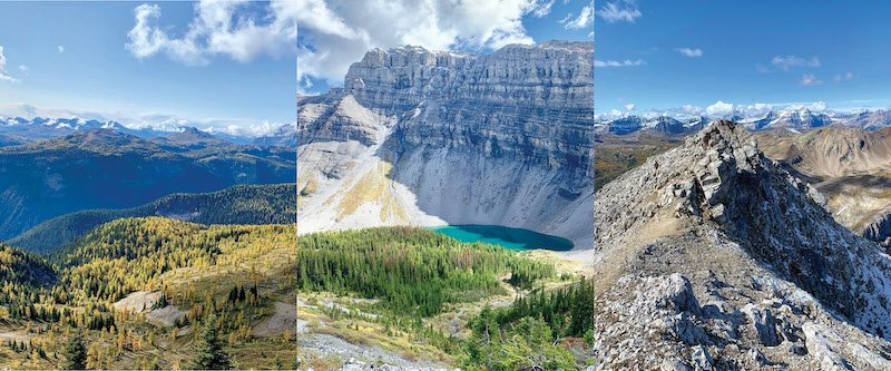 Scenic shots of Mount Bourgeau in Banff National Park