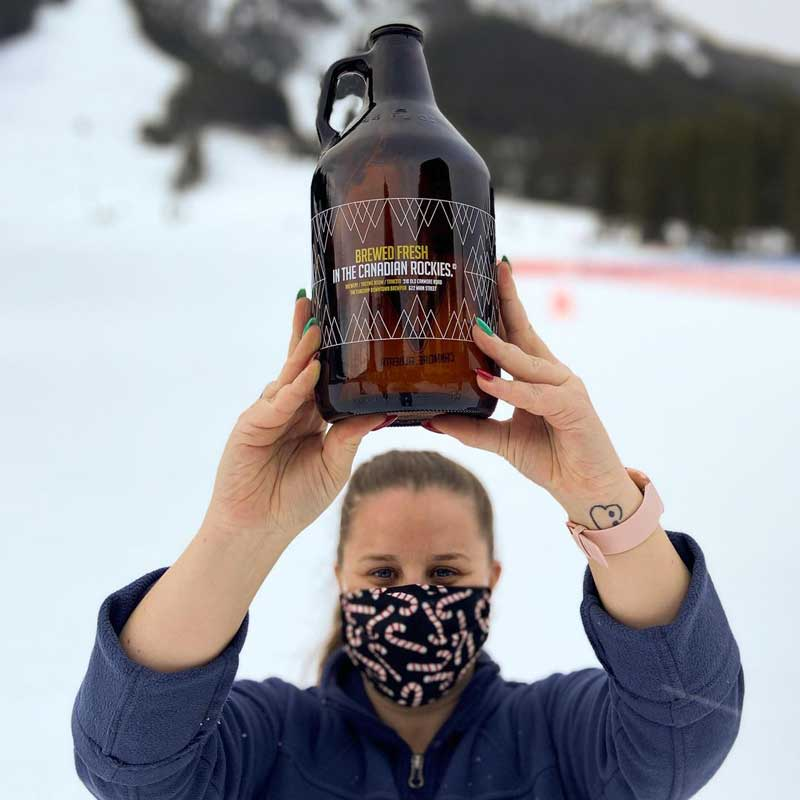 Grizzly paw growler at Mt. Norquay ski resort in Banff National Park.